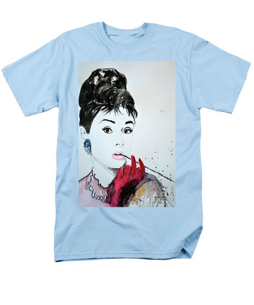 Audrey Hepburn - Original Men's T-Shirt  (Regular Fit) by Ismeta Gruenwald