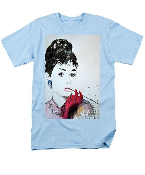 Men's T-Shirt  (Regular Fit) featuring the painting Audrey Hepburn - Original by Ismeta Gruenwald