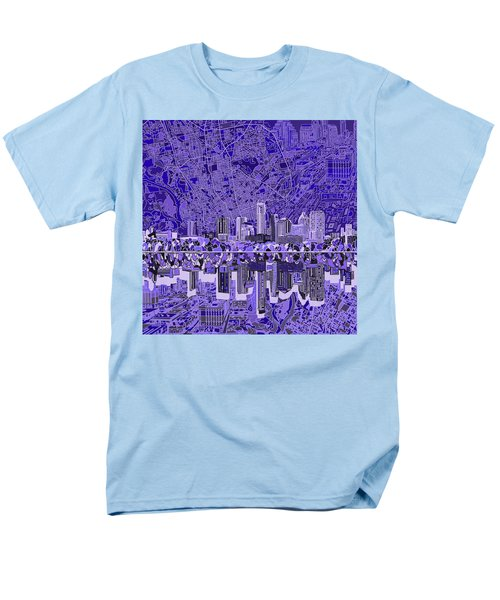 Austin Texas Skyline 4 Men's T-Shirt  (Regular Fit) by Bekim Art