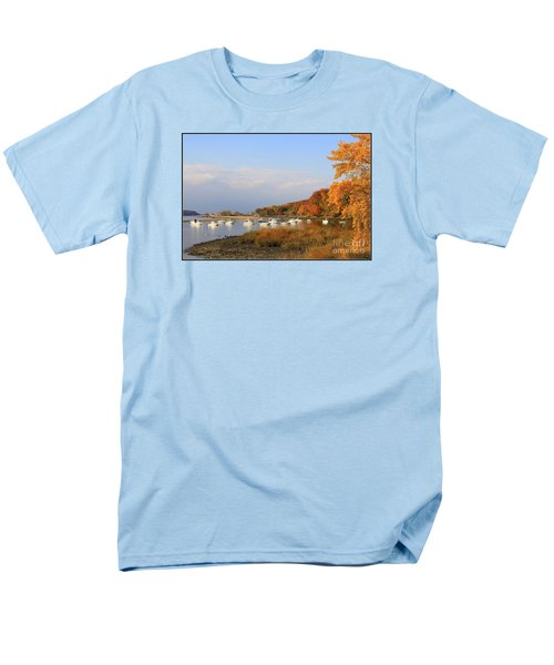 Autumn At Cold Spring Harbor Men's T-Shirt  (Regular Fit) by Dora Sofia Caputo Photographic Art and Design
