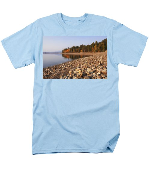 Men's T-Shirt  (Regular Fit) featuring the photograph Autumn Lake by Andrew Soundarajan