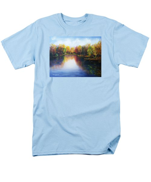 Men's T-Shirt  (Regular Fit) featuring the painting Autumn Reflections  by Vesna Martinjak