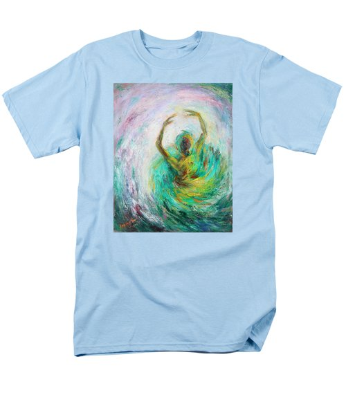 Men's T-Shirt  (Regular Fit) featuring the painting Ballerina by Xueling Zou