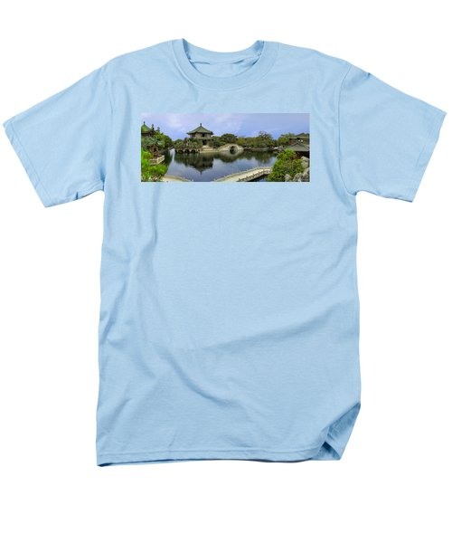 Men's T-Shirt  (Regular Fit) featuring the photograph Baomo Garden Temple by Nicola Nobile