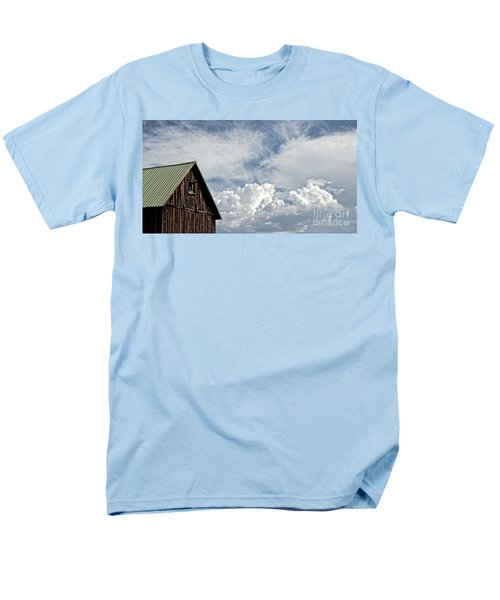 Men's T-Shirt  (Regular Fit) featuring the photograph Barn And Clouds by Joseph J Stevens