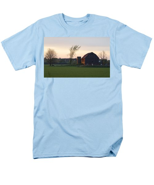 Barn At Dusk Men's T-Shirt  (Regular Fit) by David Porteus