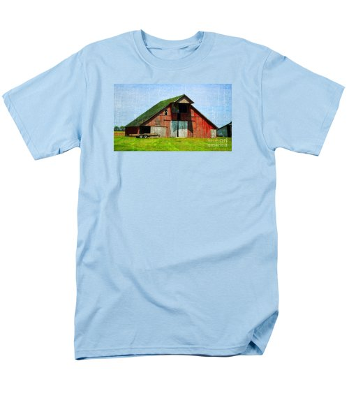 Barn - Central Illinois - Luther Fine Art Men's T-Shirt  (Regular Fit) by Luther Fine Art
