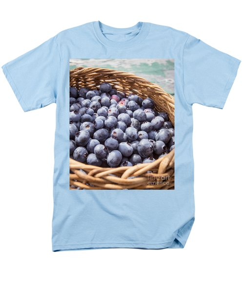 Basket Of Fresh Picked Blueberries Men's T-Shirt  (Regular Fit) by Edward Fielding