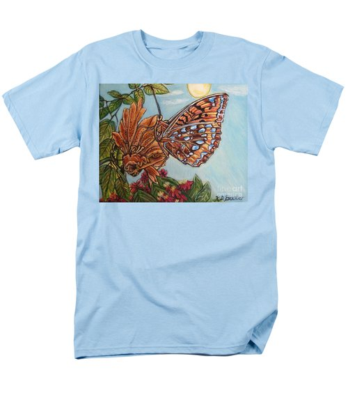 Basking In The Warmth Of The Sun In A Tropical Paradise Painting Men's T-Shirt  (Regular Fit) by Kimberlee Baxter