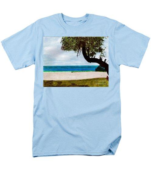 Men's T-Shirt  (Regular Fit) featuring the drawing Beach Side by D Hackett