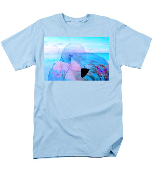 Beautiful Flamingo Men's T-Shirt  (Regular Fit) by Annie Zeno