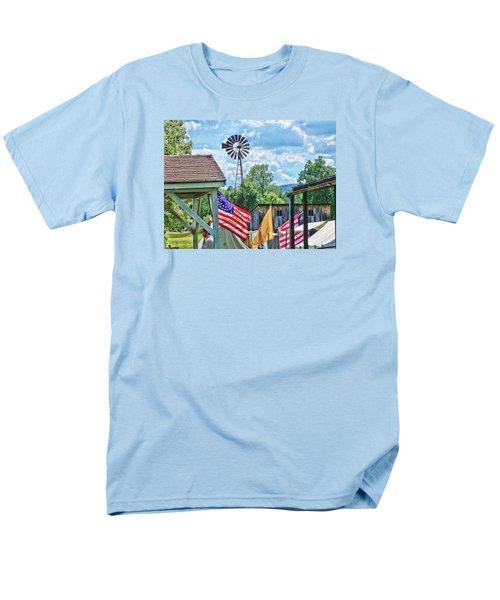 Men's T-Shirt  (Regular Fit) featuring the photograph Bedford Village Pennsylvania by Kathy Churchman
