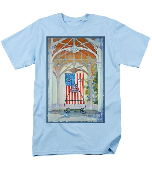 Bell And Flag Men's T-Shirt  (Regular Fit) by Mary Haley-Rocks