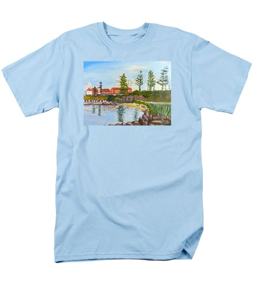 Men's T-Shirt  (Regular Fit) featuring the painting Belmore Basin From The North Sea Wall by Pamela  Meredith