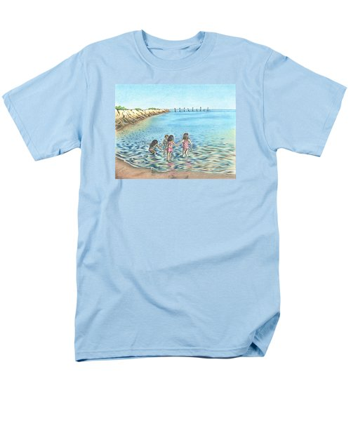 Men's T-Shirt  (Regular Fit) featuring the drawing Best Friends by Troy Levesque