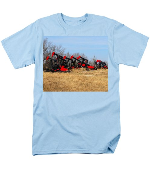 Bethlehem Pump Jacks Men's T-Shirt  (Regular Fit) by Keith Stokes