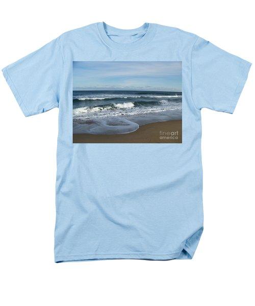 Men's T-Shirt  (Regular Fit) featuring the photograph Winter Beach  by Eunice Miller