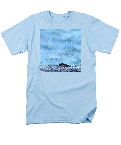Black Crab In The Blue Ocean Spray Men's T-Shirt  (Regular Fit) by Lehua Pekelo-Stearns