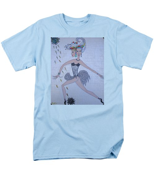 Men's T-Shirt  (Regular Fit) featuring the painting Black Dahlia by Marie Schwarzer