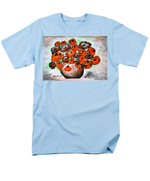Men's T-Shirt  (Regular Fit) featuring the painting Black Poppies by Ramona Matei
