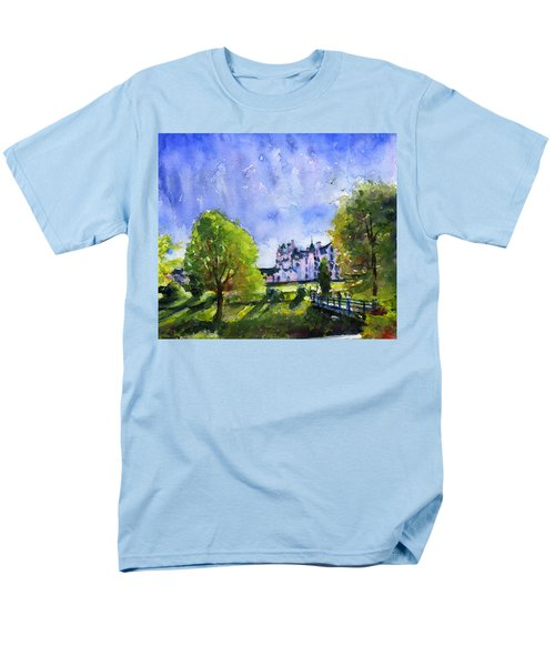 Blair Castle Bridge Scotland Men's T-Shirt  (Regular Fit) by John D Benson