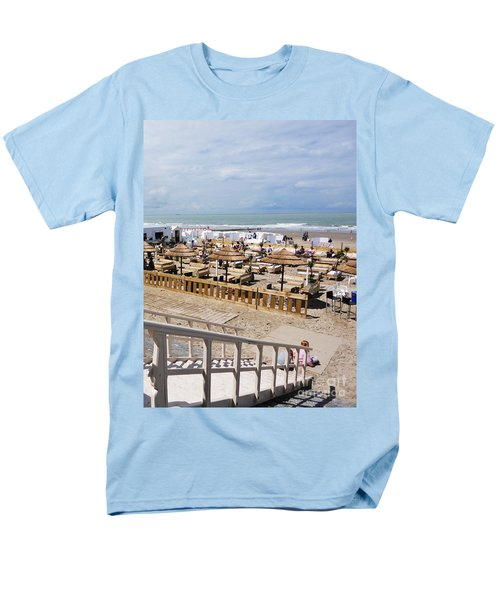 Men's T-Shirt  (Regular Fit) featuring the photograph Blankenberge Beach Belgium by PainterArtist FIN