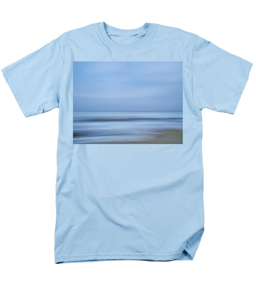 Blue Hour Beach Abstract Men's T-Shirt  (Regular Fit) by Linda Villers