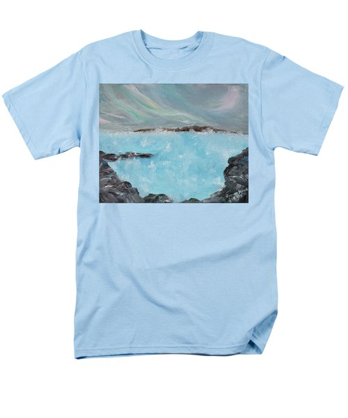 Blue Lagoon Iceland Men's T-Shirt  (Regular Fit) by Judith Rhue