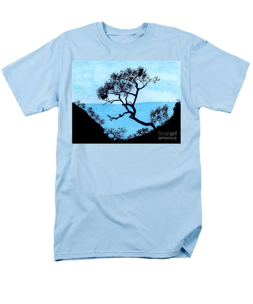 Men's T-Shirt  (Regular Fit) featuring the drawing Blue Mountain by D Hackett