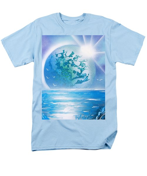 Blue Moon Men's T-Shirt  (Regular Fit) by Greg Moores