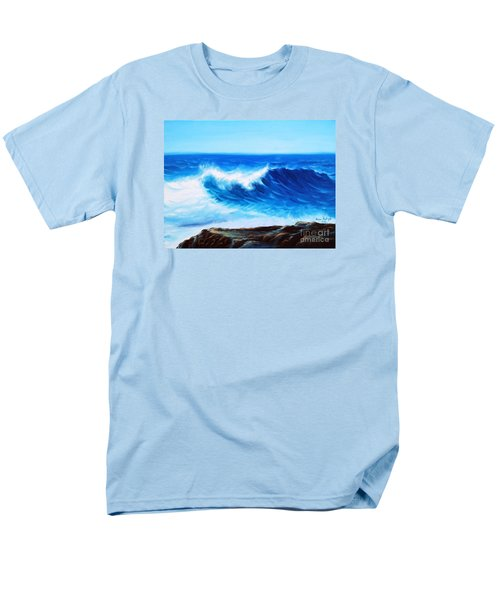 Men's T-Shirt  (Regular Fit) featuring the painting Blue by Vesna Martinjak