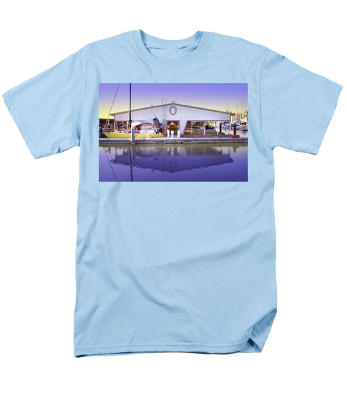 Men's T-Shirt  (Regular Fit) featuring the photograph Boat House by Sonya Lang