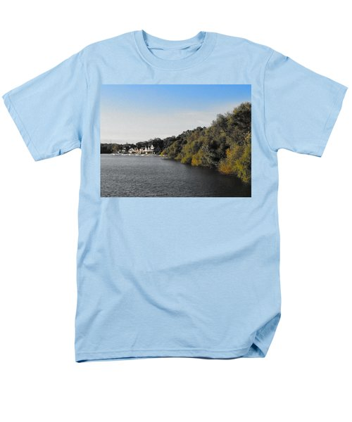 Men's T-Shirt  (Regular Fit) featuring the photograph Boathouse II by Photographic Arts And Design Studio