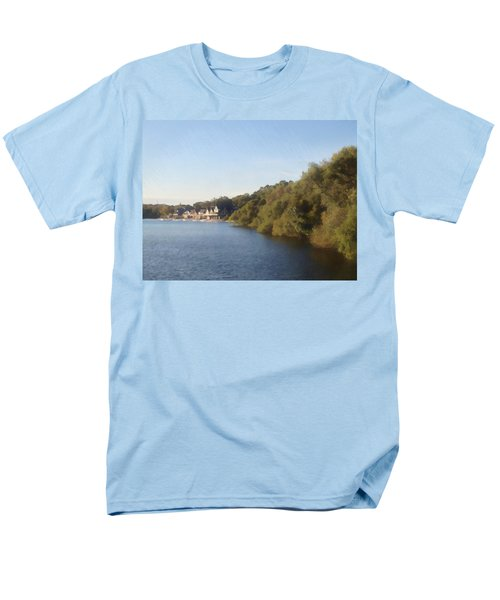 Men's T-Shirt  (Regular Fit) featuring the photograph Boathouse by Photographic Arts And Design Studio