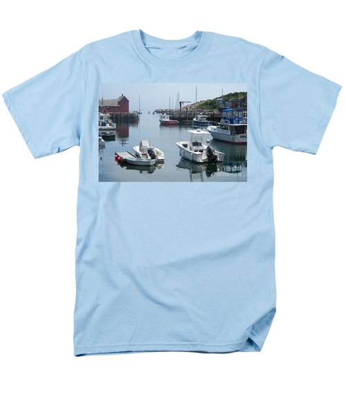 Men's T-Shirt  (Regular Fit) featuring the photograph Boats On The Water by Eunice Miller