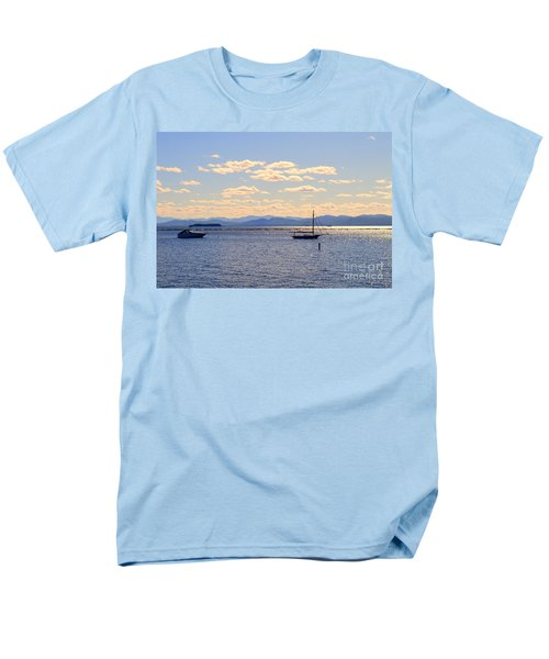 Boats On Lake Champlain Vermont Men's T-Shirt  (Regular Fit) by Catherine Sherman