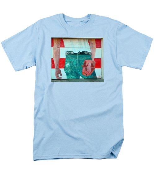Born In The Usa Urban Garage Door Mural Men's T-Shirt  (Regular Fit)