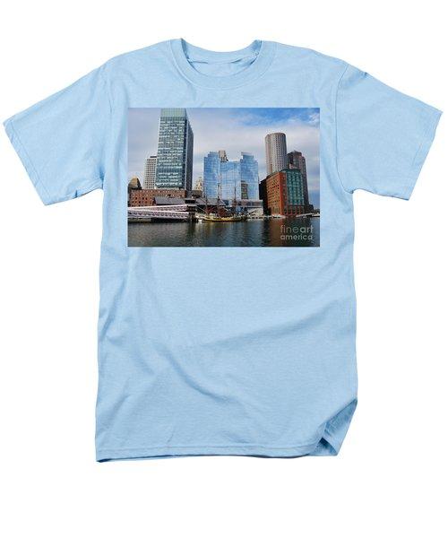 Boston Skyline I Men's T-Shirt  (Regular Fit) by Barbara Bardzik