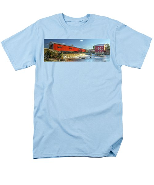 Men's T-Shirt  (Regular Fit) featuring the photograph Bridgeton Bridge And Mill by Harold Rau