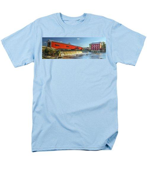 Bridgeton Bridge And Mill Men's T-Shirt  (Regular Fit) by Harold Rau