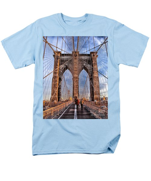 Men's T-Shirt  (Regular Fit) featuring the photograph Brooklyn Bridge by Paul Fearn