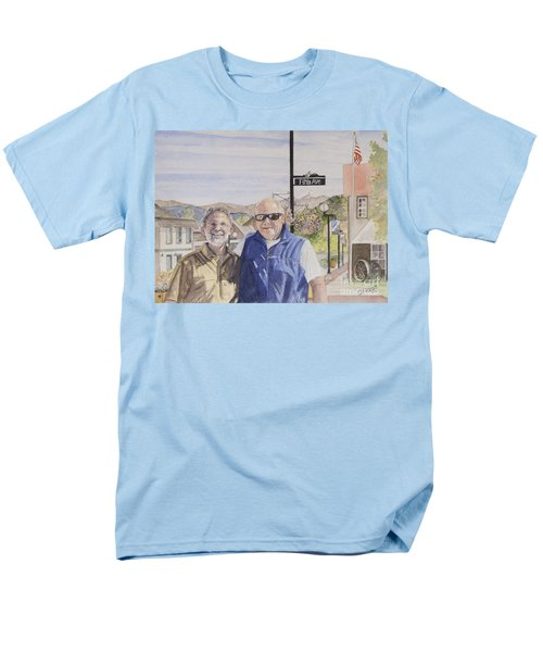 Men's T-Shirt  (Regular Fit) featuring the painting Bros by Carol Flagg
