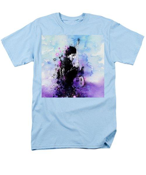 Bruce Springsteen Splats And Guitar 2 Men's T-Shirt  (Regular Fit) by Bekim Art