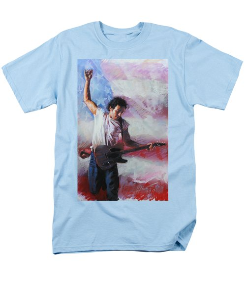 Bruce Springsteen The Boss Men's T-Shirt  (Regular Fit) by Viola El