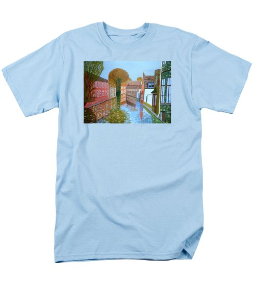 Brugge Canal Men's T-Shirt  (Regular Fit) by Magdalena Frohnsdorff