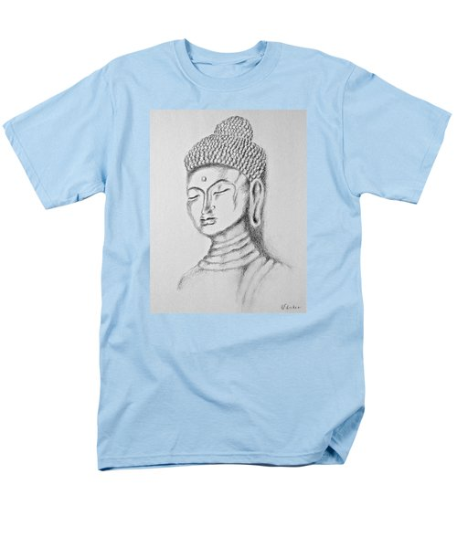 Men's T-Shirt  (Regular Fit) featuring the drawing Buddha Study by Victoria Lakes