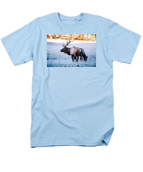 Bull Elk And Cow Men's T-Shirt  (Regular Fit) by Paul Mashburn
