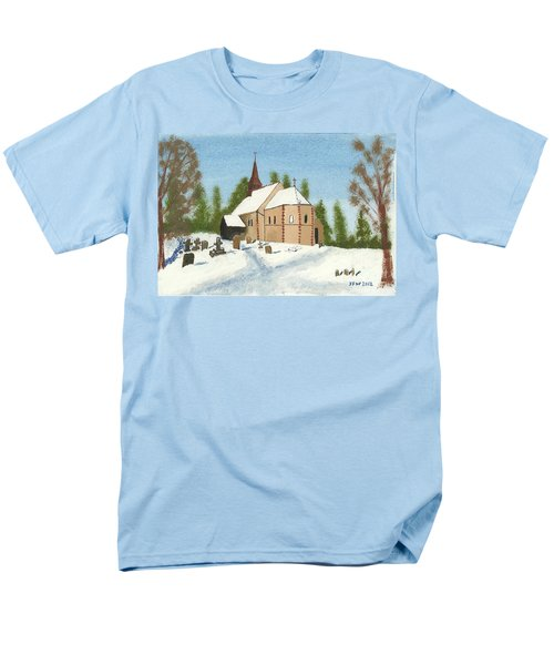 Men's T-Shirt  (Regular Fit) featuring the painting Bulley Church by John Williams