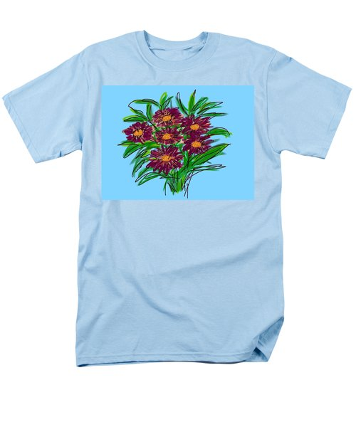 Men's T-Shirt  (Regular Fit) featuring the digital art Bunch Of Daisies by Christine Fournier