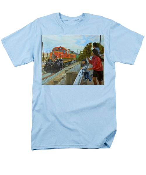 Burlington Northern Santa Fe Men's T-Shirt  (Regular Fit) by Thu Nguyen